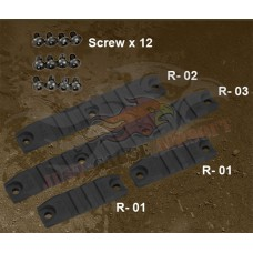 Ares Amoeba Rail Set  AM-RAIL- SET-BK/DE - Just Cause Airsoft