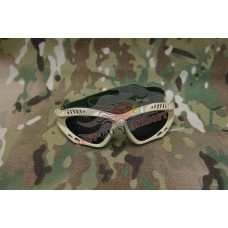 Mesh Protective Glasses Black, Tan & Green