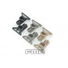 FMA GOGGLE SWIVEL CLIPS 36mm BLACK/TAN/FG - Just Cause Airsoft