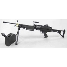A&K FN Herstal Minimi M249 Mk.1 Skeleton Stock Airsoft AEG Support Rifle - Just Cause Airsoft